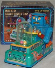 ROBOTS : MINI X-9 SPACE ROBOT CAR TINPLATE / PLASTIC MODEL MADE BY MASUDAYA