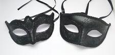 Venetian Masquerade Costume Wedding Porm Party Black Mask 4 man/woman Boy/Girl