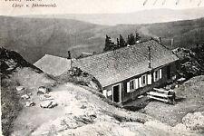 16772 AK Unterkunftshaus auf dem Osser bayrischer Wald Bänke Mann Rast um 1910