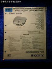 Sony Service Manual D E400 /AN /ANC /R E401 E403 E405 E406CK /CKT E409CK (#5832)