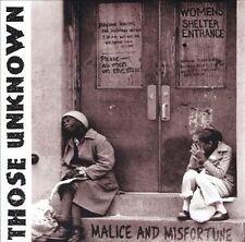 Malice and Misfortune; Those Unknown 2000 CD, Oi! Street Punk, New Jersey, TKO V