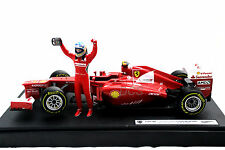 HOT WHEELS FERRARI F2012 F.ALONSO F1 GP MALAYSIAN WINNER LIM:3500PCS 1/18 #BBW94
