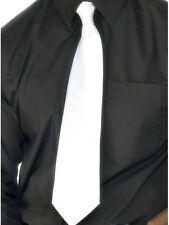 Uomo 20s 1920s Anni '20 Gangster, Vestito Cravatta Bianca nuovo da Smiffys