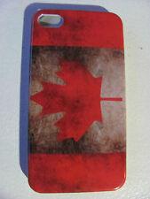 Coque Housse Etui  DRAPEAU CANADA flag Pour IPhone 4 4S