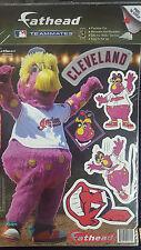 Chief Wahoo! Cleveland Indians Fathead MLB Baseball Teammate Logo Sticker