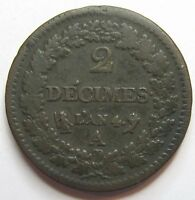 - 2 DECIMES  de Dupré - An 4 A -