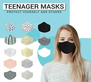 Face Mask Washable Teen High School Boys Girls Kids Petite Reusable Mouth Cover
