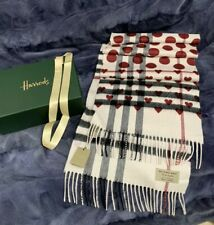 Burberry 100%  Genuine 100%  Cashmere Scarf NEXT DAY DELIVERY ! RRP £390 NEW