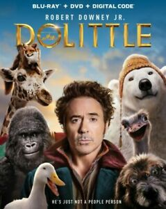 Dolittle (Blu-ray Disc + DVD + Digital Code, 2020, 2-Disc Set) no slipcover