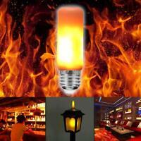 E27 3W LED Licht Fackel Feuer Lampe Flammen Effekt Glühbirne Flacker Birne 3Modi
