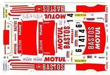 BMW M3 1989-93 Bastos Motul 1/24th - 1/25th Scale Decals