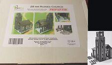 Bandua BA0100063 Prepainted Ruined Church (1) 28mm Miniature Terrain Ruins NIB
