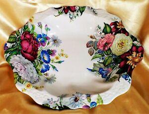 JAMES KENT China OLD FOLEY Large Bowl FLORAL Vintage ABSOLUTELY STUNNING