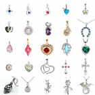 925 Sterling Silver Crystal Heart Necklace Pendant wedding Jewellry No Chain#kek