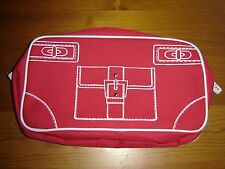 Clinique Red Large Cosmetic Make Up Bag Pouch