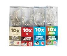 10x LED Lichterkette blau Lampenkette Licht Lampe Kette Batterie