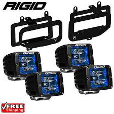 Rigid Radiance LED Fog Light Kit Blue Backlight for 15-17 Ford F150 46555 20201