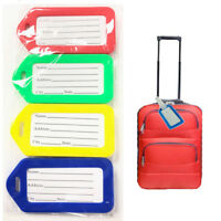 Luggage Tag 4pc Name Suitcase Label ID Address Baggage Cabin Bag Travel Handbag