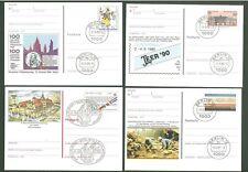 Stationery An61 Postcard Sc Germany 1983-1991 Philately Fauna (4 pcs) Below face