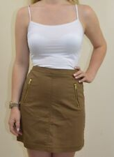 H&M NEW UK 10 LADIES BROWN HIGH WAISTED SKIRT