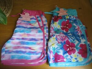 Girls Board Shorts Swimming Floral or Stripe Age 11 12 13 Years BNWT FREEPOST
