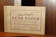 Vintage Reeve Angel lens Paper Glasses Optical Instruments Booklet