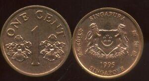 SINGAPORE - SINGAPOURE  1 cent 1995   ( etat )