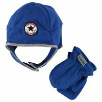 Converse All Star Infant Baby Kids Fleece Trapper Hat + Mittens Set 1-3 Yrs A341