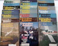 Lot of 21 Vintage  Canadian Aviation Magazines 1974 thru 1982