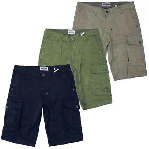 Pantaloni corti uomo con tasconi pantaloncini elasticizzati bermuda cargo shorts