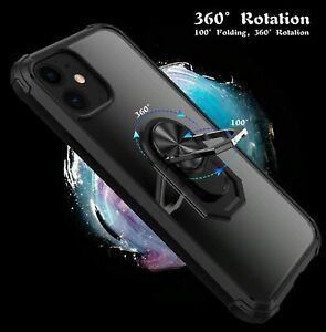 Heavy duty Shockproof Magnet Metal Ring back Case Cover Apple iPhone 13 series