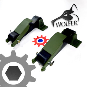 2 each - Hood Latch 383-Green ; Humvee Hummer H1 ; 12338909 2540-01-185-9530