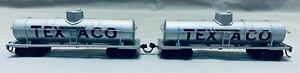 Vintage TETSUDO-MOKEISHA Brass/Die Cast HO Scale Texaco Tank Car - Pair of 2