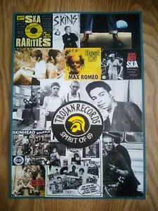 Trojan Records Ska / Skinhead Photo Montage Poster A3 Repro / Print
