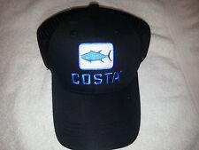 Costa Del Mar BLACK & BLUE TUNA TRUCKER ADJUSTABLE MESH HAT CAP ~NEW with TAGS~