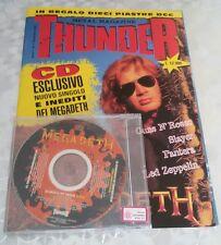 THUNDER N.1 Novembre 1994 + CD Megadeth + poster doppio Metallica e Guns n Roses