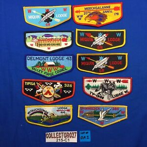 Boy Scout OA 10 Mixed Lot Order Of The Arrow Pocket Flap Patches Lot# OA 1