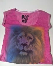 Rebel Yell Women's The Airbrushed Pink Lion Muscle Top Size XS