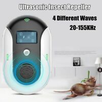 Electronic Ultrasonic Pest Repeller Bug Mosquito Mouse Cockroach Killer