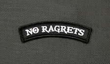 NO RAGRETS Tab Morale Patch Scotty P The Millers Hook & Loop Backing