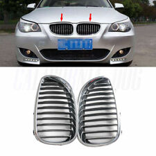Left+Right Front Chrome Kidney Grille Gurard For BMW 5 Series  E60 E61 2003-10