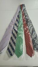 "New, mulitcolor Men's necktie monogram ""B"" Lot of 5 pcs ;"