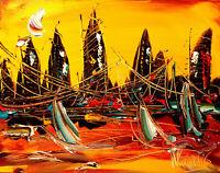 LANDSCAPE  Kazav  IMPRESSIONIST IMPASTO ARTIST  Original  CANVAS Painting  NR