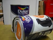 lot 2 peinture dulux valentine 1.25 litre =2.5 l  crème peinture colori assorti