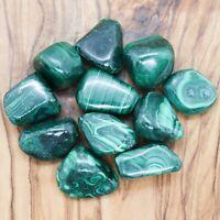 3 x Malachite Tumblestones 40g+ Wholesale Crystal Therapists Healing