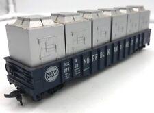 HO Railroad freight Car Norfolk Western 6 silver Generators in Carrier