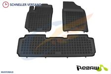 Gummi-Fußmatten SsangYong Rexton II Y400 ab 2017 3-Teile Gummimatten Automatten