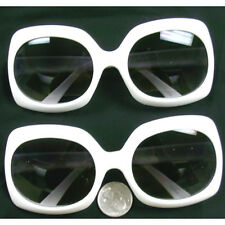 Jackie O White Rectangle Sunglasses Onassis Kennedy Mod Kurt Cobain Nirvana