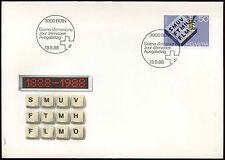Svizzera 1988 Ufficio federale di topografia FDC PRIMO GIORNO DI COPERTURA #c20108