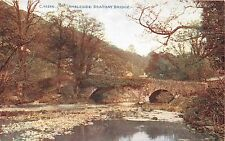 AMBLESIDE CUMBRIA UK BRATHAY BRIDGE PHOTOCHROM CELESQUE SERIES POSTCARD 1910s